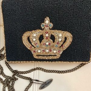 mary frances Crown beaded handbag Clutch Crossbody